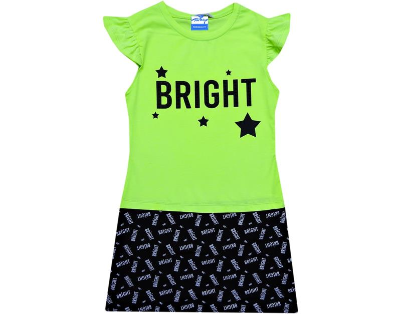08438 wholesale bright print girl body suit 6-7-8-9 age