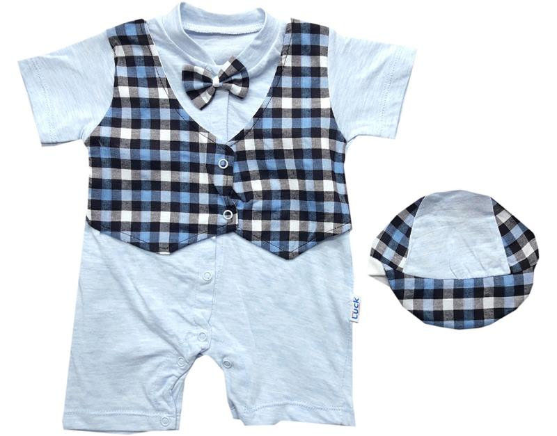 4037-21 wholesale square vest baby boy overalls 6-9-12 month