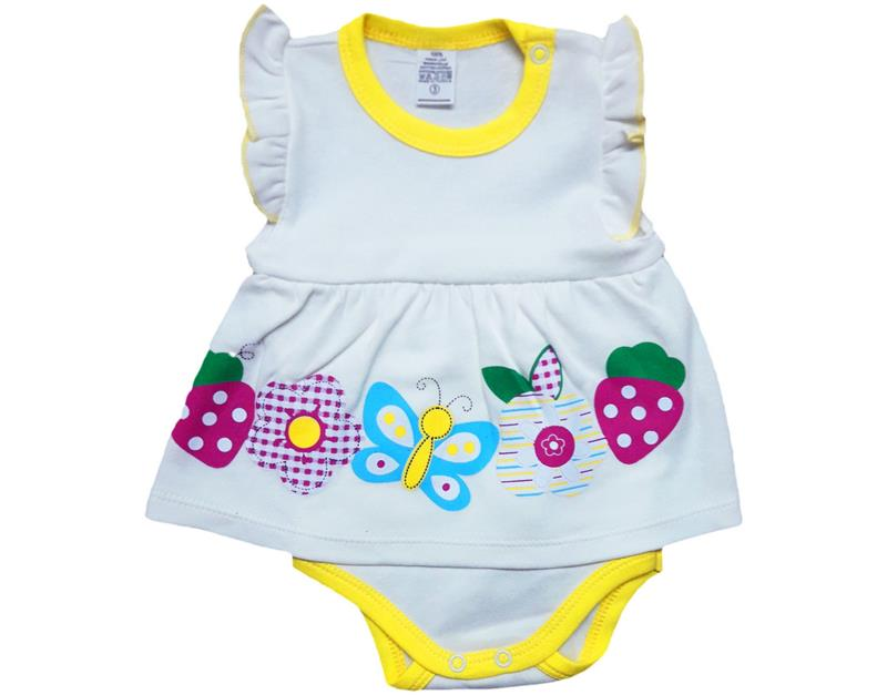 878 wholesale strawberry and butterfly baby girl bodysuit 3-6-9-12 month